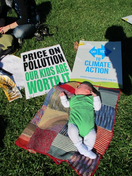 Baby climate activist