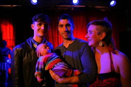 First gig with baby Griffin in tow
